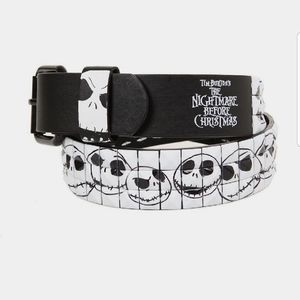 Nightmare Before Christmas Jack Leather Tile Belt